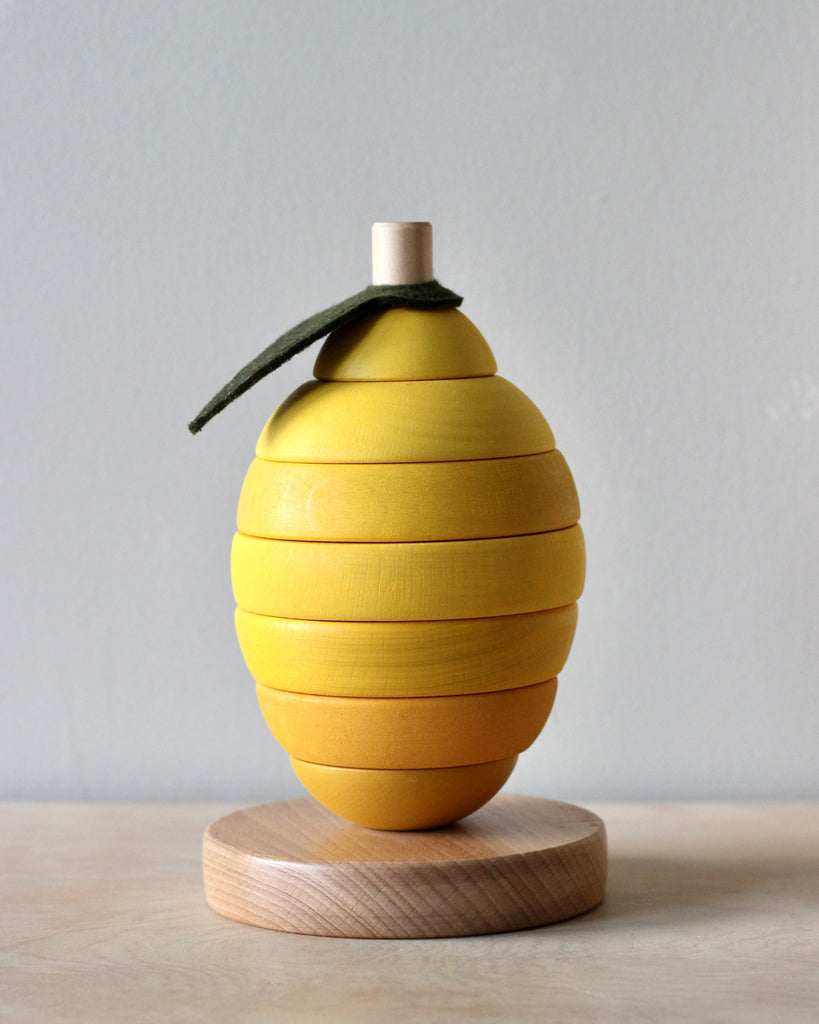 Wooden Stacking Lemon Toy