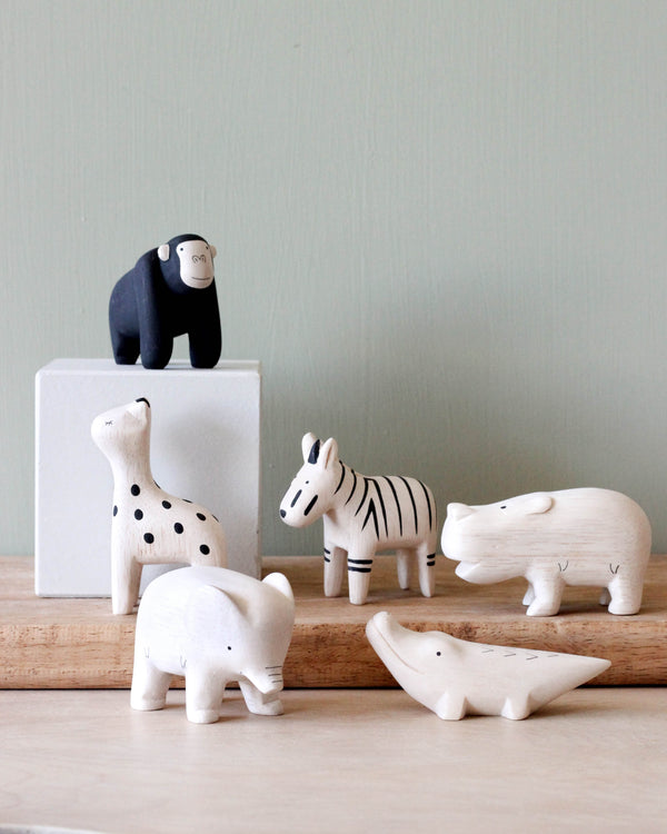 Tiny Wooden Safari Animals