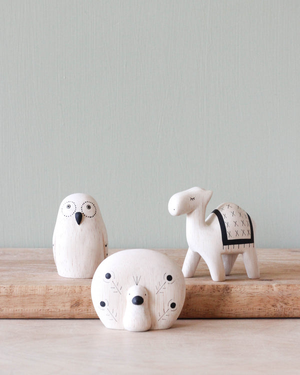 Handmade Tiny Wooden Exotic Animals
