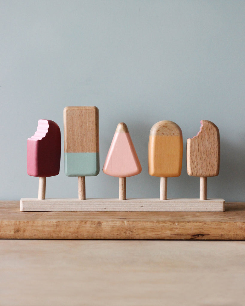 Handmade Wooden Ice Cream Bars