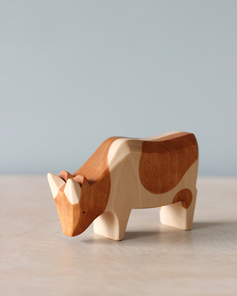 Handmade Spotted Brown Cow