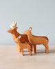 Handmade Wooden Deer Family