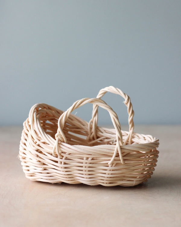 Handmade Small Rattan Carry Basket