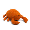 Hand-Knit Crab Stuffed Animal