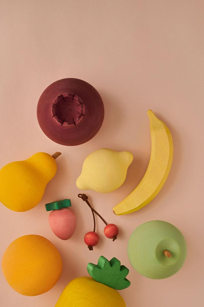 Handmade Painted Wooden Fruits