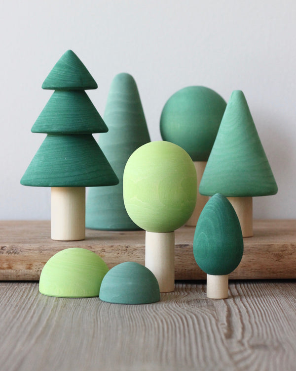 Handmade Wooden Forest - Painted