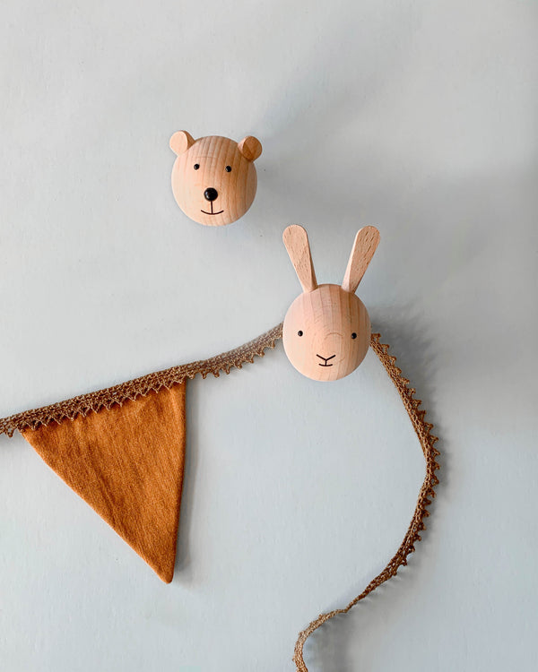 Wooden Mini Animal Wall Hook