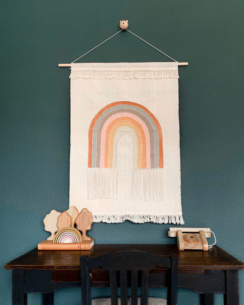 Handmade Canvas Rainbow Wall Hanging