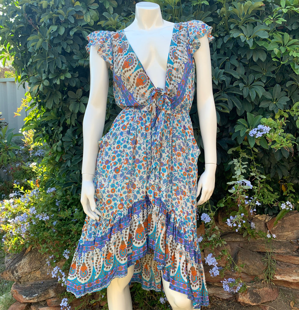 Karma Key Hole Dress - Flower Child