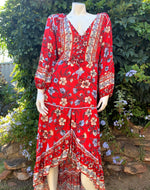Karma Tunic Dress - Red Hawaii