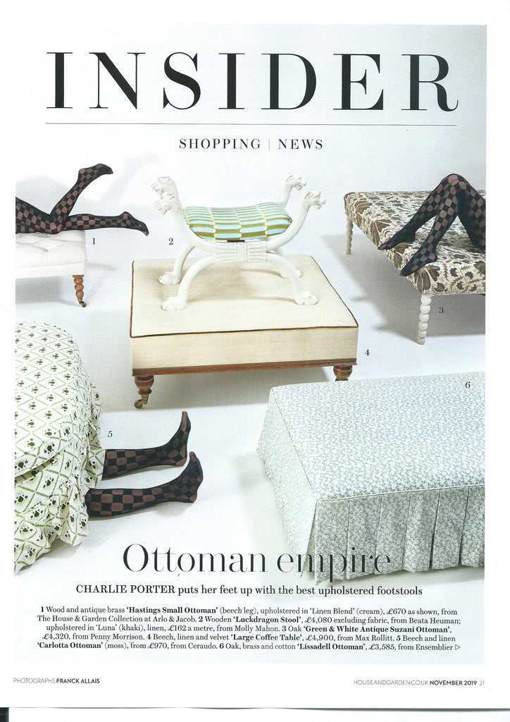 House and Garden Press Coverage Ottomans and Home Accessories Penny Morrison