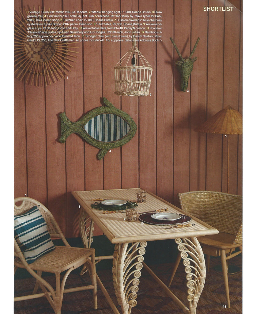 Penny Morrison Wicker Table Mats and Baskets