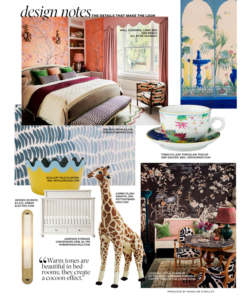 Architectural Digest features Penny Morrison Silk Lampshade