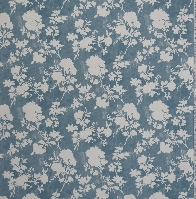 Wallpaper Flowerberry Blue Wallpaper Penny Morrison BABY BLUE, BEDROOM, COLOUR_BLUE, DELICATE, FLORAL, LEAF, NATURE, PASTELS, PATTERN_FLORAL, PRETTY, SOFT BLUE, TREE, VINE, VINTAGE, WALLPAPER
