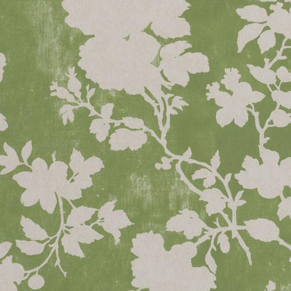 Wallpaper Flowerberry Green Wallpaper Penny Morrison BEDROOM, COLOUR_GREEN, DELICATE, FLORAL, LEAF, NATURE, PASTELS, PATTERN_FLORAL, PRETTY, SOFT BLUE, SOFT GREEN, TREE, VINE, VINTAGE, WALLPAPER