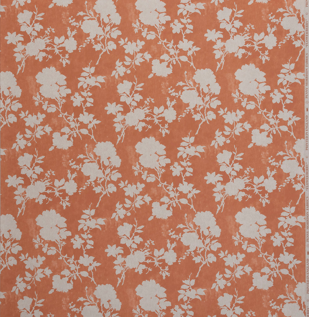 Flowerberry Orange Wallpaper Wallpaper Penny Morrison