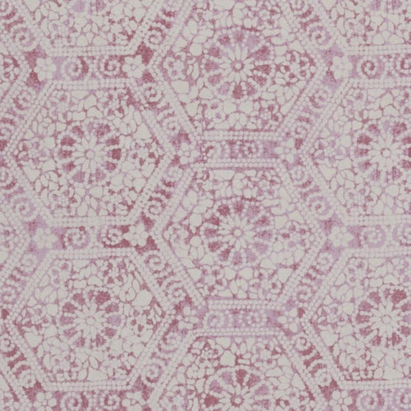 Wallpaper Nankeeng Pink Wallpaper Penny Morrison COLOUR_PINK, DETAILS, ETHNIC, HEXAGON, PATTERN_ABSTRACT, PATTERN_GEOMETRIC, PINK, RUSTIC, SHAPES, TESSELATE, VINTAGE, WALLPAPER, WORN