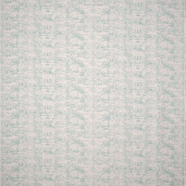 Fabrics Kilta Aqua Penny Morrison COLOUR_BLUE, DESIGNER_SARAH VANRENEN, FADED, NATURAL, PATTERN_ABSTRACT, PATTERN_GEOMETRIC, PRINT, RUSTIC, VERTICAL, VINTAGE