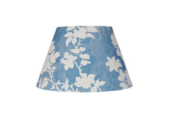 Flowerberry Blue Laminated Pembroke Lampshade