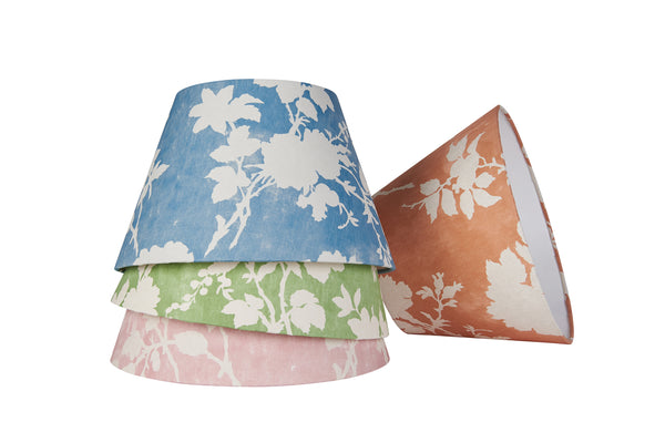 Lampshade Flowerberry Blue Laminated Pembroke Lampshade Penny Morrison COLOUR_BLUE, Lampshade