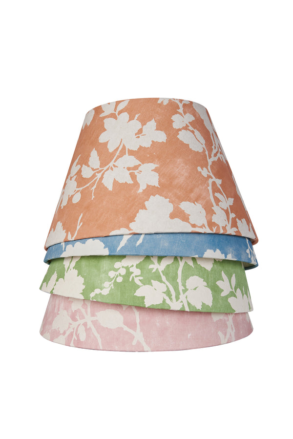 Flowerberry Orange Laminated Pembroke Lampshade
