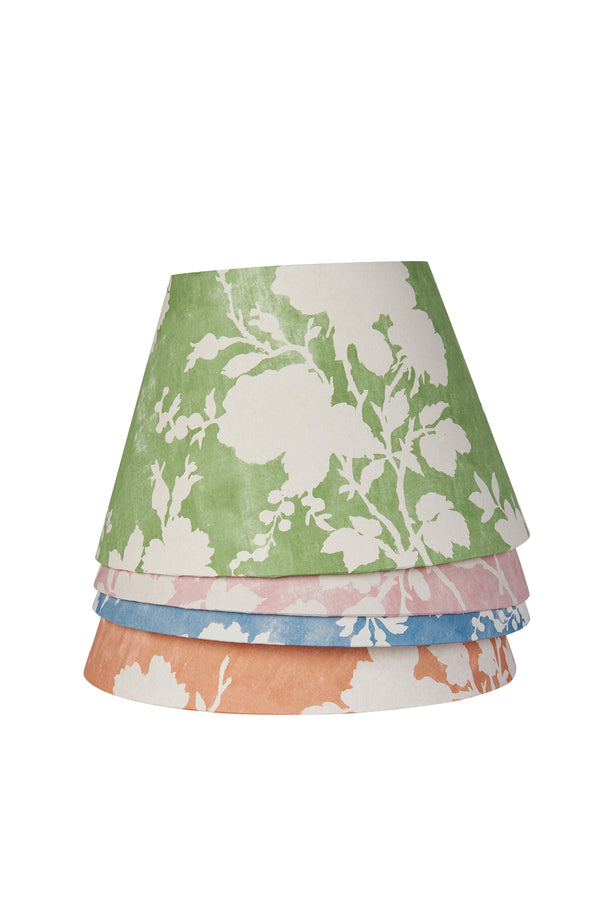 Flowerberry Green Laminated Pembroke Lampshade