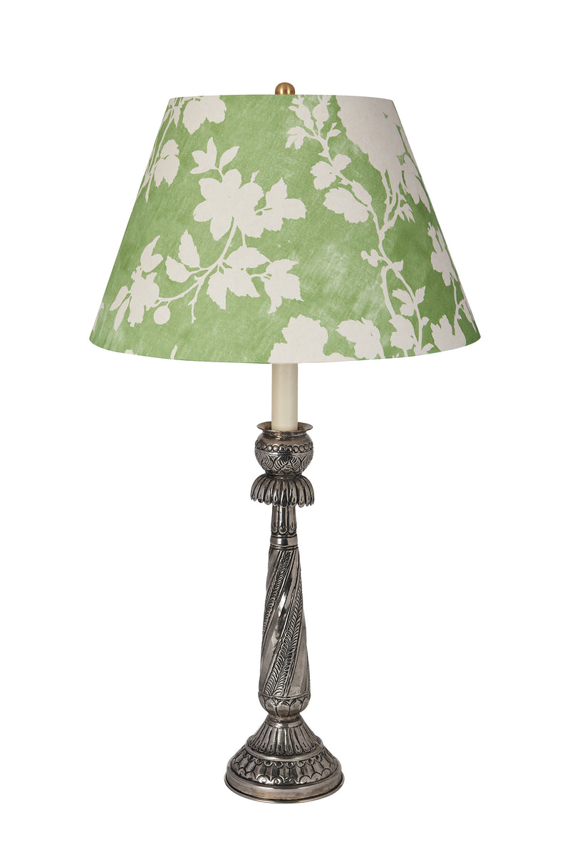 Lampshade Flowerberry Green Laminated Pembroke Lampshade Penny Morrison COLOUR_GREEN, Lampshade