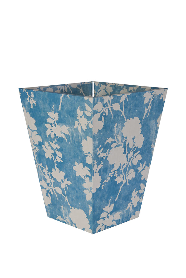 Flowerberry Blue Waste Paper Bin