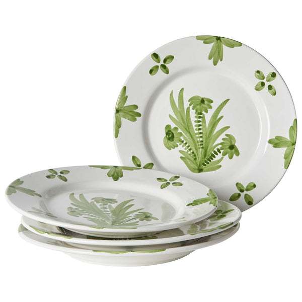Green Summer Flower Ceramic Large Plate
