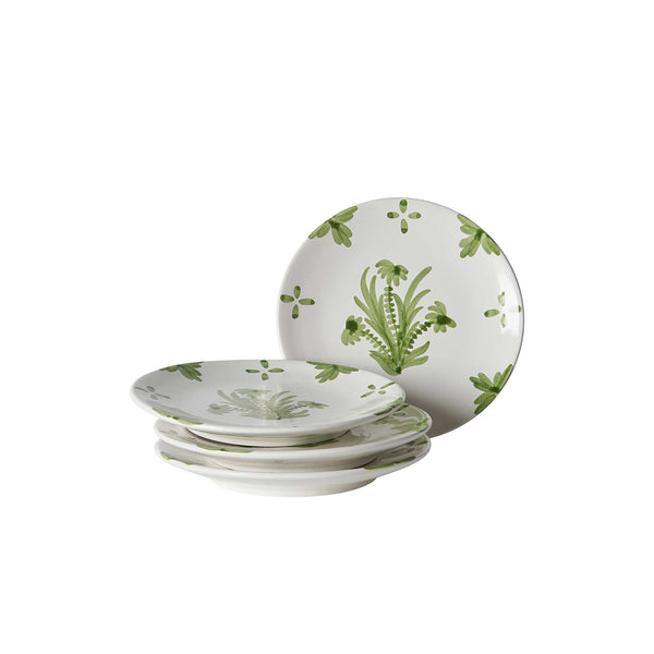 Green Summer Flower Ceramic Small Plate