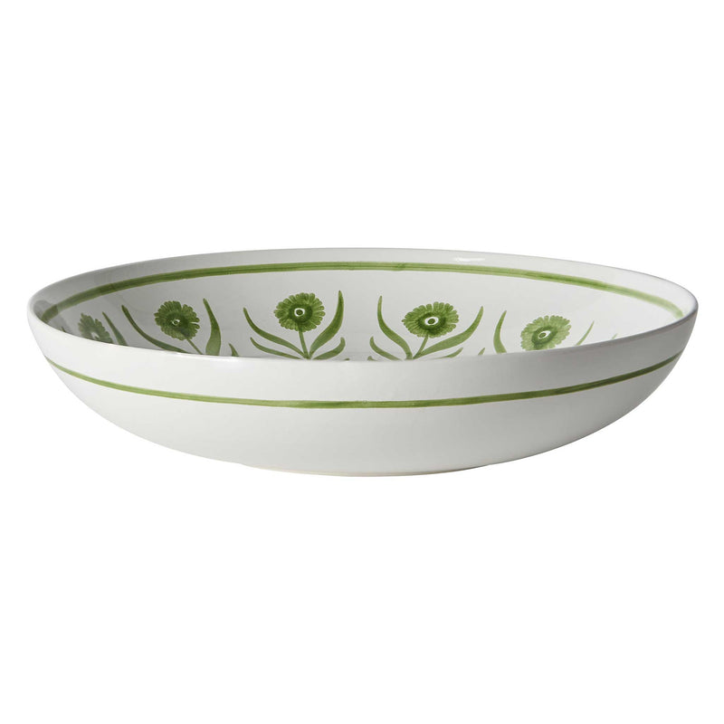 Green Summer Flower Salad Bowl
