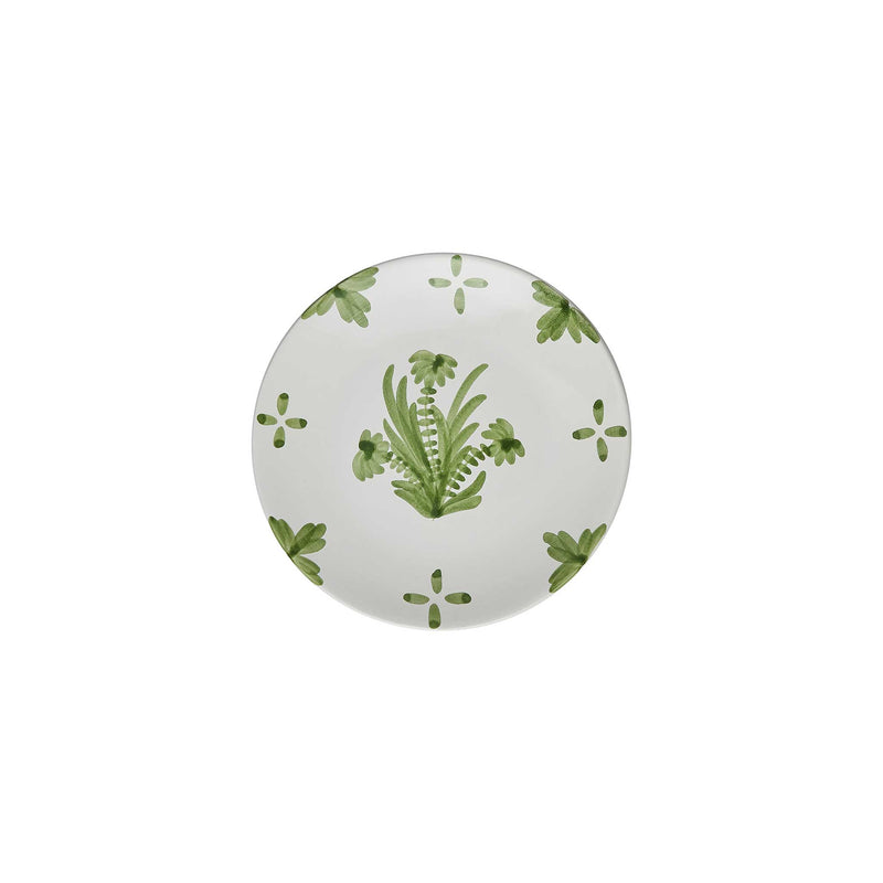 Tableware Green Summer Flower Ceramic Small Plate Penny Morrison ceramics, COLOUR_GREEN, crockery, dining, fancy, floral, flower, motif, PATTERN_FLORAL, pink, place setting, plate, pottery, pretty, sets, side plate, small, Tableware