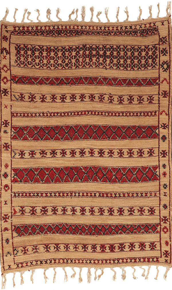 Rugs Red & Natural Striped Wicker Rug Penny Morrison
