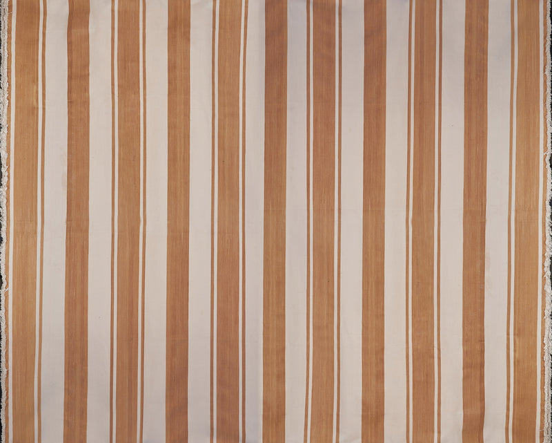 Light Brown and Light Cream Striped Rug