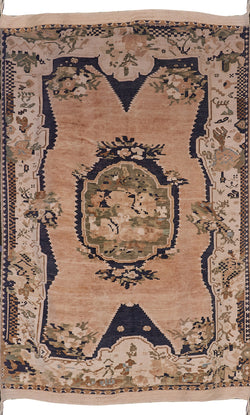 Light Khaki and Light Green Antique Rug