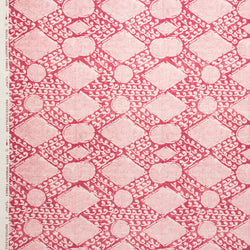 Fabrics African Luwa Penny Morrison COLOUR_PINK, DESIGNER_PENNY MORRISON, DIAMONDS, GEOMETRIC, linen, PATTERN_ABSTRACT