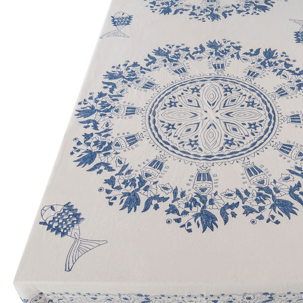 Penny-Morrison-Aleppo-Blue-Tablecloth-Unique-Illustrated-Bohemian-Pattern