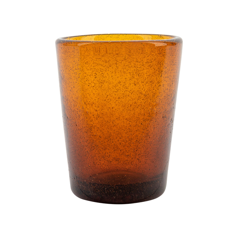 Tableware Amber Glass with Bubble Effect Penny Morrison Amber, COLOUR_ORANGE, COLOURFUL, DRINKING GLASS, Glass, GLASSWARE, ORANGE, QUIRKY, Tableware, UNIQUE, WINE