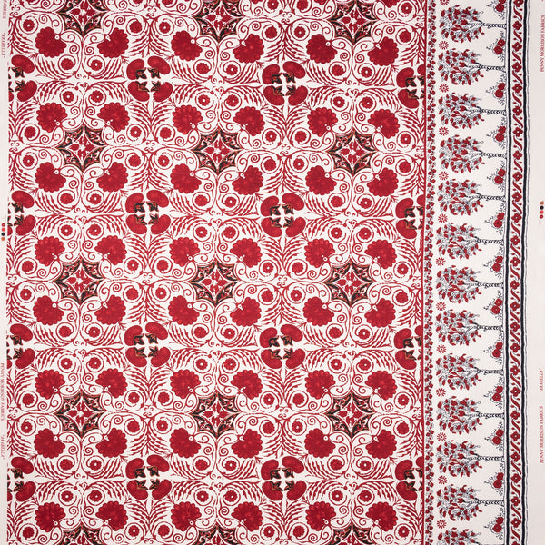Fabrics Arabella Red Penny Morrison bohemian, COLOUR_BLUE, COLOUR_RED, DESIGNER_PENNY MORRISON, ethnic, PATTERN_ABSTRACT, TIE DIE