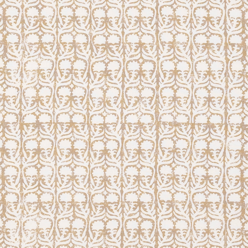 Fabrics Ashok Ecru Penny Morrison BEIGE, BLOCK PRINT, COLOUR_BROWN, CREAM, DESIGNER_PENNY MORRISON, flower, leaf, PATTERN_FLORAL, repeated, SIMPLE, small, TAUPE, VERTICAL, VINES