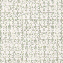 Fabrics Ashok Green Penny Morrison BLOCK PRINT, COLOUR_GREEN, DESIGNER_PENNY MORRISON, flower, leaf, PATTERN_FLORAL, repeated, SIMPLE, small, VERTICAL, VINES