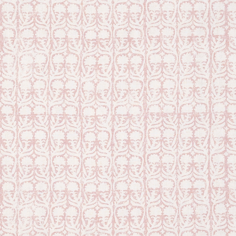 Fabrics Ashok Pink Penny Morrison BLOCK PRINT, COLOUR_PINK, DESIGNER_PENNY MORRISON, flower, leaf, PASTEL, PATTERN_FLORAL, repeated, SIMPLE, small, TAUPE, VERTICAL, VINES