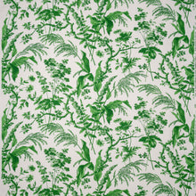 Fabrics Aspa Green Penny Morrison COLOUR_GREEN, DESIGNER_SARAH VANRENEN, leaf, NATURAL, NATURE, PATTERN_FLORAL, PLANTS, TRADITIONAL