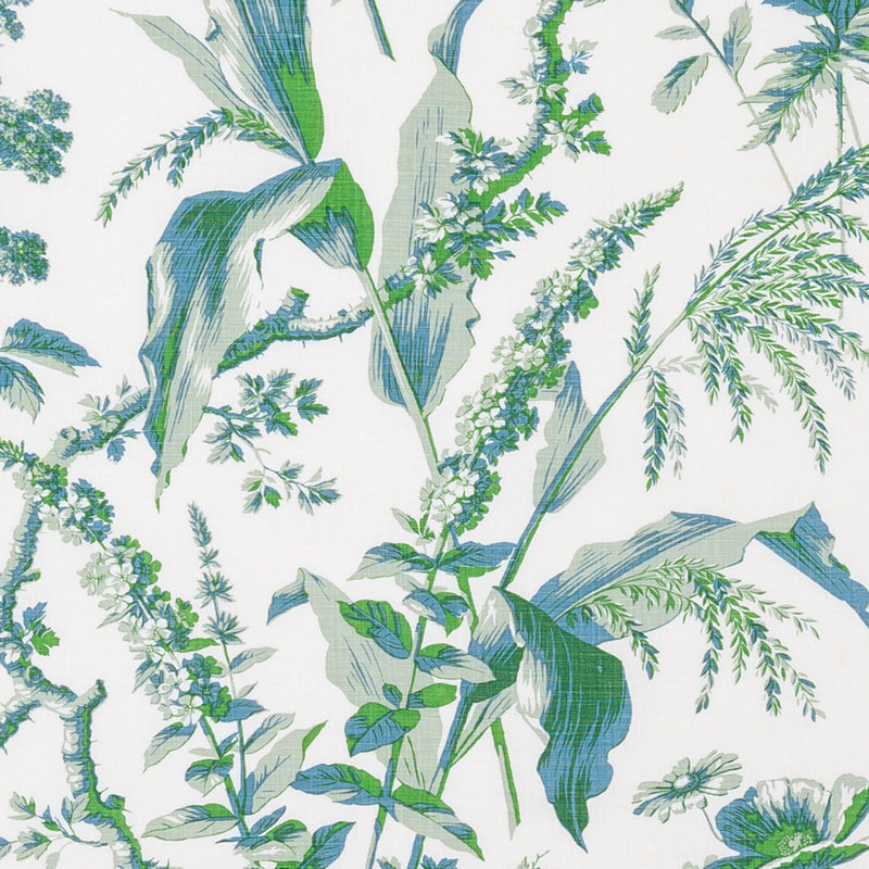Fabrics Aspa Eau de Nil/Green Penny Morrison COLOUR_GREEN, DESIGNER_SARAH VANRENEN, leaf, NATURAL, NATURE, PATTERN_FLORAL, PLANTS, TRADITIONAL