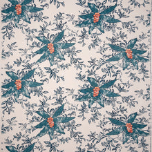 Fabrics Berri Petrol Penny Morrison BOLD, COLOUR_BLUE, DESIGNER_SARAH VANRENEN, FLOWERS, leaf, NATURAL, NATURE, PATTERN_FLORAL, STATEMENT