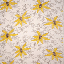 Fabrics Berri Yellow Penny Morrison BOLD, COLOUR_YELLOW, DESIGNER_SARAH VANRENEN, FLOWERS, leaf, NATURAL, NATURE, PATTERN_FLORAL, STATEMENT