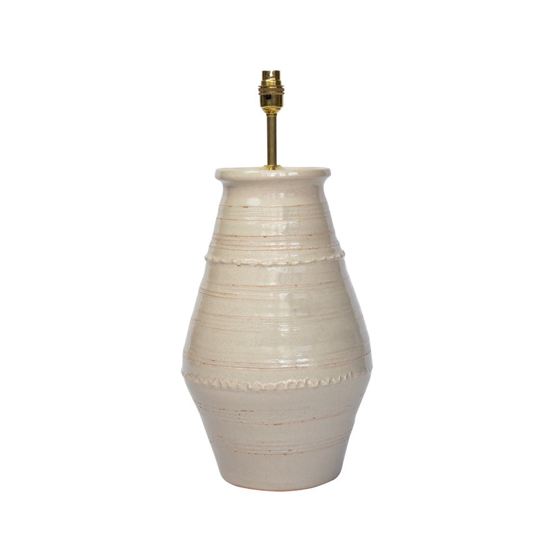 Lamps Blonde Ribbed Vase Ceramic Lamp Base Penny Morrison BASE STYLE_RIBBED VASE, BEIGE, bestseller, BLONDE, CERAMIC, COLOUR_BROWN, CREAM, LAMP BASE, LAMPS, LIGHTING, NATURAL, NEUTRAL, PLAIN, SIMPLE, STATEMENT, TAUPE, UNIQUE, VASE