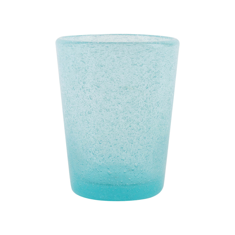 Tableware Blue Glass with Bubble Effect Penny Morrison blue, BUBBLE, COLOUR_BLUE, COLOURFUL, DRINKING GLASS, Glass, GLASSWARE, LIGHT BLUE, QUIRKY, Tableware, UNIQUE, WINE