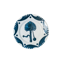 Tableware Blue Palm Tree Ceramic Large Plate Penny Morrison bestseller, blue, ceramics, COLOUR_BLUE, COLOUR_GREEN, COLOUR_PINK, crockery, dining, floral, large, main course, motif, palm tree, PATTERN_OTHER, place setting, plate, pottery, sets, Tableware, TYPE_PLATES