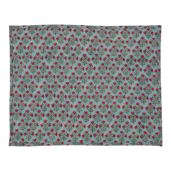 Tableware Blue Small Flower Reversible Table Mat Penny Morrison blue, COLOUR_BLUE, delicate, DESIGNER_PENNY MORRISON, Floral Motif, PATTERN_FLORAL, pretty, quilted, TABLE LINEN, TABLE MAT, unique